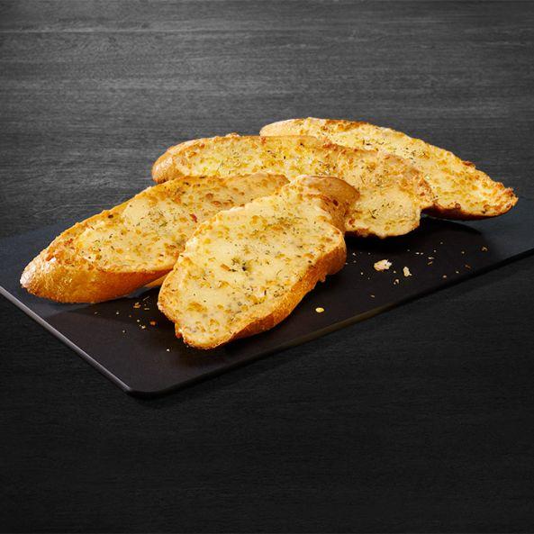 Pâine cu brânză, unt şi aromă de usturoi