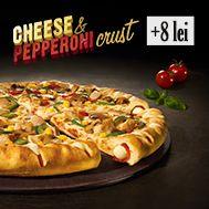 Pizza cu blat Cheese & Pepperoni