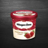 Inghetata Haagen Dazs Strawberries and Cream 100ML
