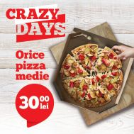 CRAZY DAYS – TAKE-AWAY ONLY