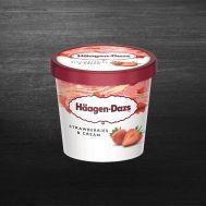 Inghetata Haagen Dazs Strawberries and Cream 95ML