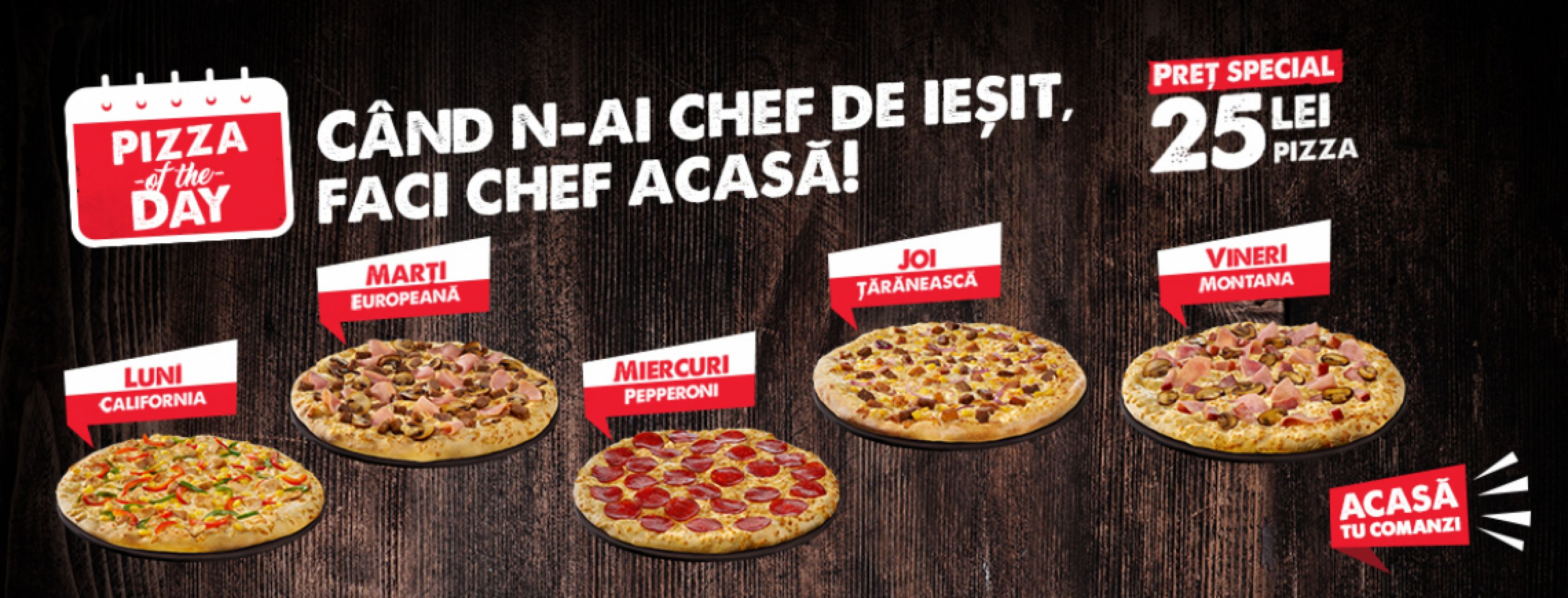 PIZZA HUT DELIVERY LANSEAZĂ OFERTA PIZZA OF THE DAY
