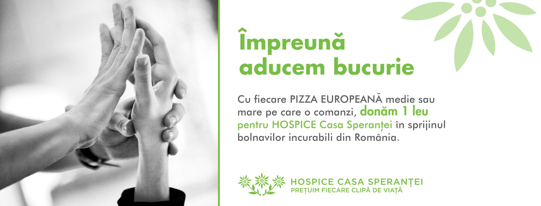 Pizza Hut şi Pizza Hut Delivery colaborează cu HOSPICE Casa Speranţei pentru a susține pacienții cu boli incurabile