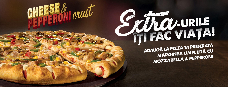 Cheese & Pepperoni crust